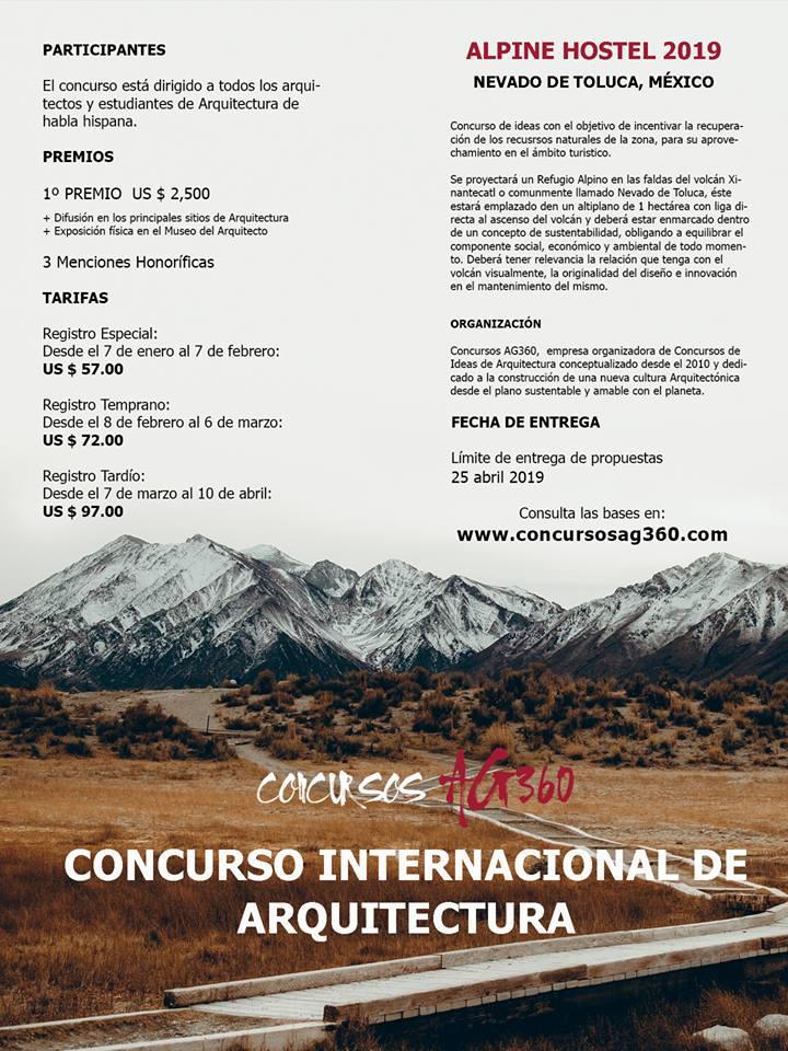 Concurso de Arquitectura. Alpine Hostel 2019