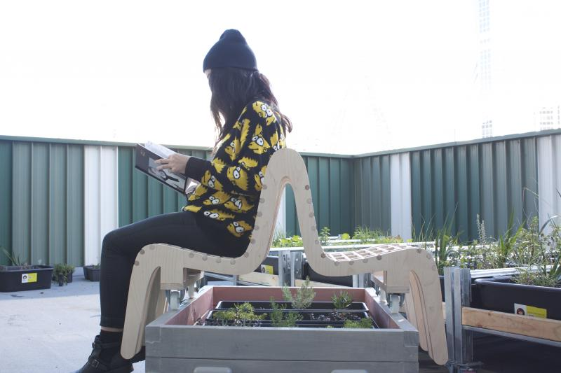Green Roof Bench