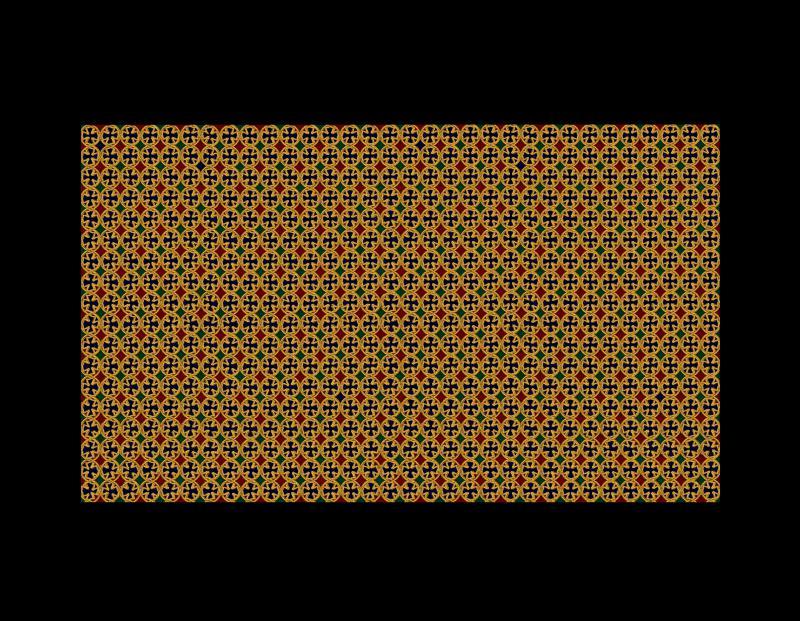 Elmalk copper screen design [2,3,4,5] with glass colour