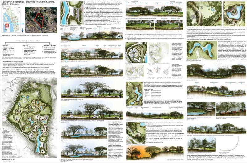 Conserving Memories: Creating An Urban Respite, at C.R.B. , Chittagong